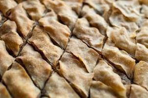 baklava, dessert turc à base de pâte fine, noix et miel.