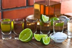 tequila au sel et citron vert