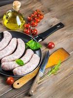 les saucisses de Munich aux tomates photo