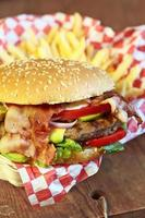 burger et frites photo