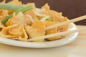 wontons au fromage