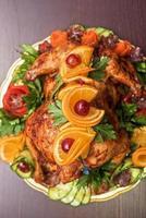 poulet entier rôti