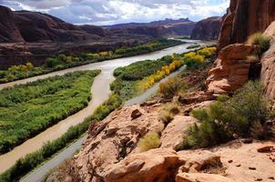 Vue du portail moab de la rivière colorado photo