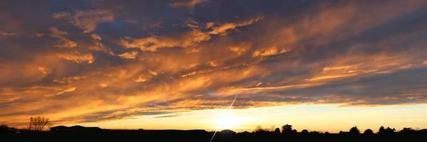 coucher de soleil en automne photo