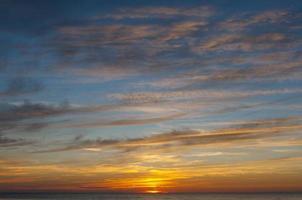 coucher de soleil sur la baltique photo