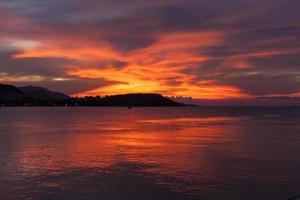 coucher de soleil à chaweng photo