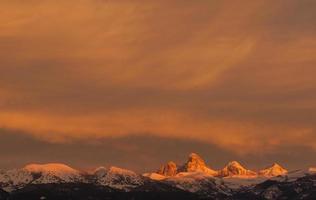 coucher de soleil versant ouest photo