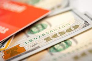 dollars et carte de crédit photo