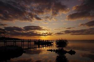 coucher de soleil sur largo clé photo