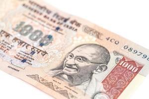 billet de mille roupies (monnaie indienne) photo