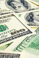 gros plan, argent, dollars, fond
