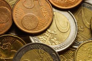 euro pièces d'argent. fond de macro. photo