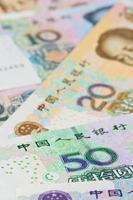 Billets de banque en yuan chinois (renminbi), pour les concepts d'argent photo
