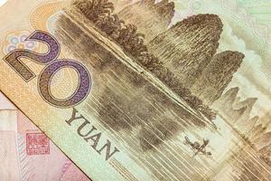 20 yuans, argent de Chine photo