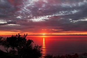 coucher de soleil laser badlands photo