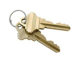 clés avec un tracé de détourage