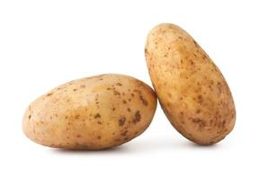 pommes de terre isolés sur fond blanc photo