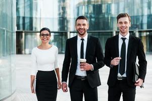 grands esprits d'affaires. photo