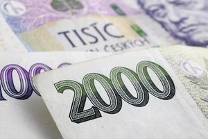 couronnes tchèques czk, billets de banque photo