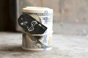 rouleau de dollars photo