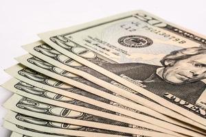 billets d'un dollar américain, virer de l'argent photo