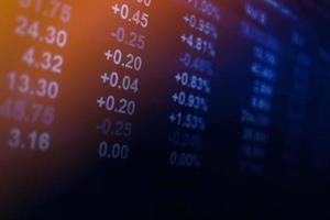 affichage du marché boursier photo