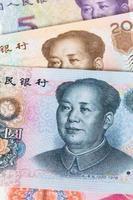 Gros plan de billets de banque en argent chinois photo