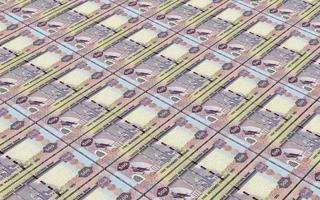 émirats arabes unis dirhams factures piles fond. photo