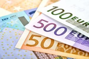 billet en euros photo