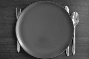 assiette et couverts photo