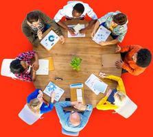 réunion analyse de données communication planification concept d'entreprise photo
