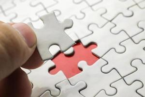 puzzle blanc photo