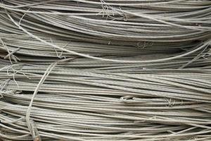 fond technologique de corde en acier photo