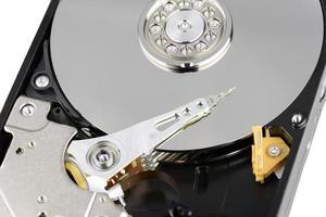 gros plan du disque dur photo