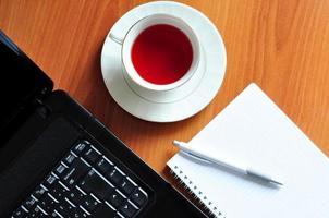 pause thé au bureau photo