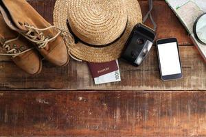 tenue de voyageur, étudiant, adolescent, jeune femme ou homme. photo