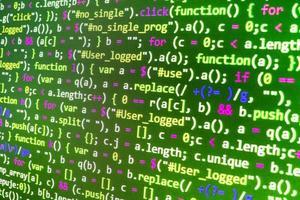 développeur de logiciels code de programmation sur ordinateur photo