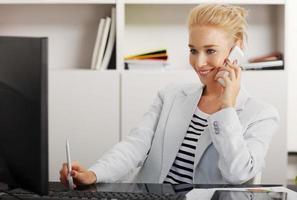 femme affaires, bureau photo