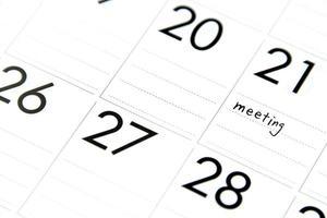 réunion d'affaires prévue