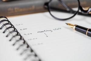 calendrier des réunions photo