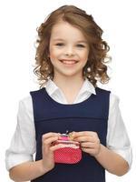 fille avec porte-monnaie photo