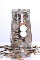 remplir des pièces de monnaie en verre pour l'investissement photo