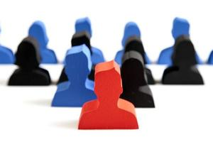 concept de travail d'équipe, de personnes et d'icônes photo