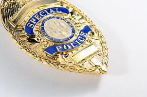 plaque de policier photo