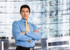 portrait de bel homme d'affaires photo