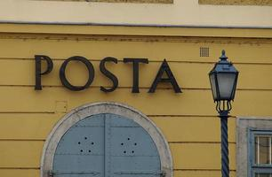 bureau de poste de budapest photo