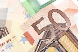 monnaie de l'union européenne photo