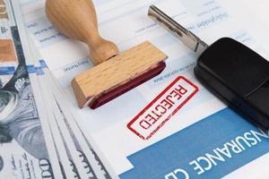 formulaire de réclamation d'assurance auto photo