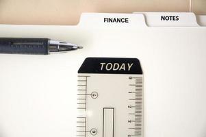 page finances et notes photo