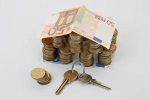 financer la construction bancaire et les concepts commerciaux photo